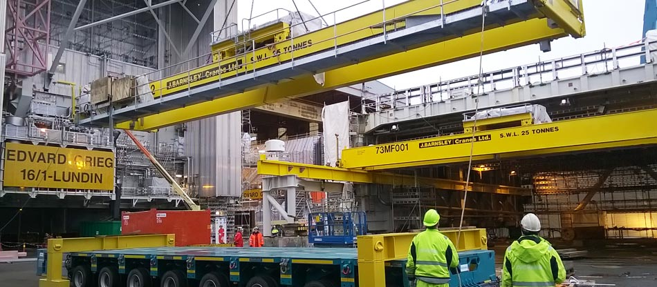 Upstream Explosion Proof Cranes Projects